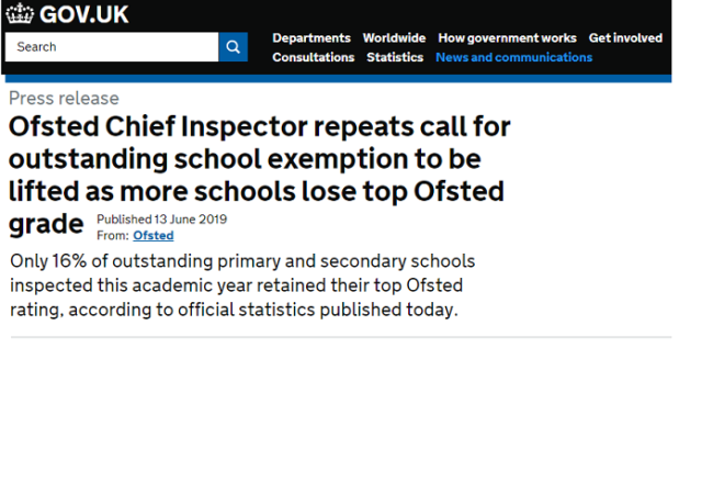 Only 16% schools maintain their 'Outstanding' Ofsted rating, unless they have Earwig